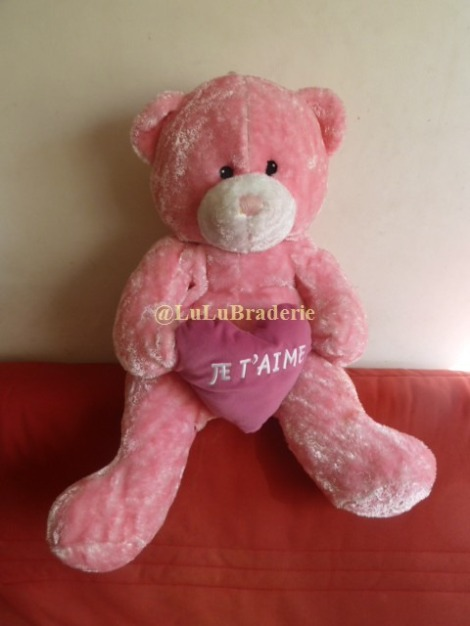 Peluche Ours Je t'aime